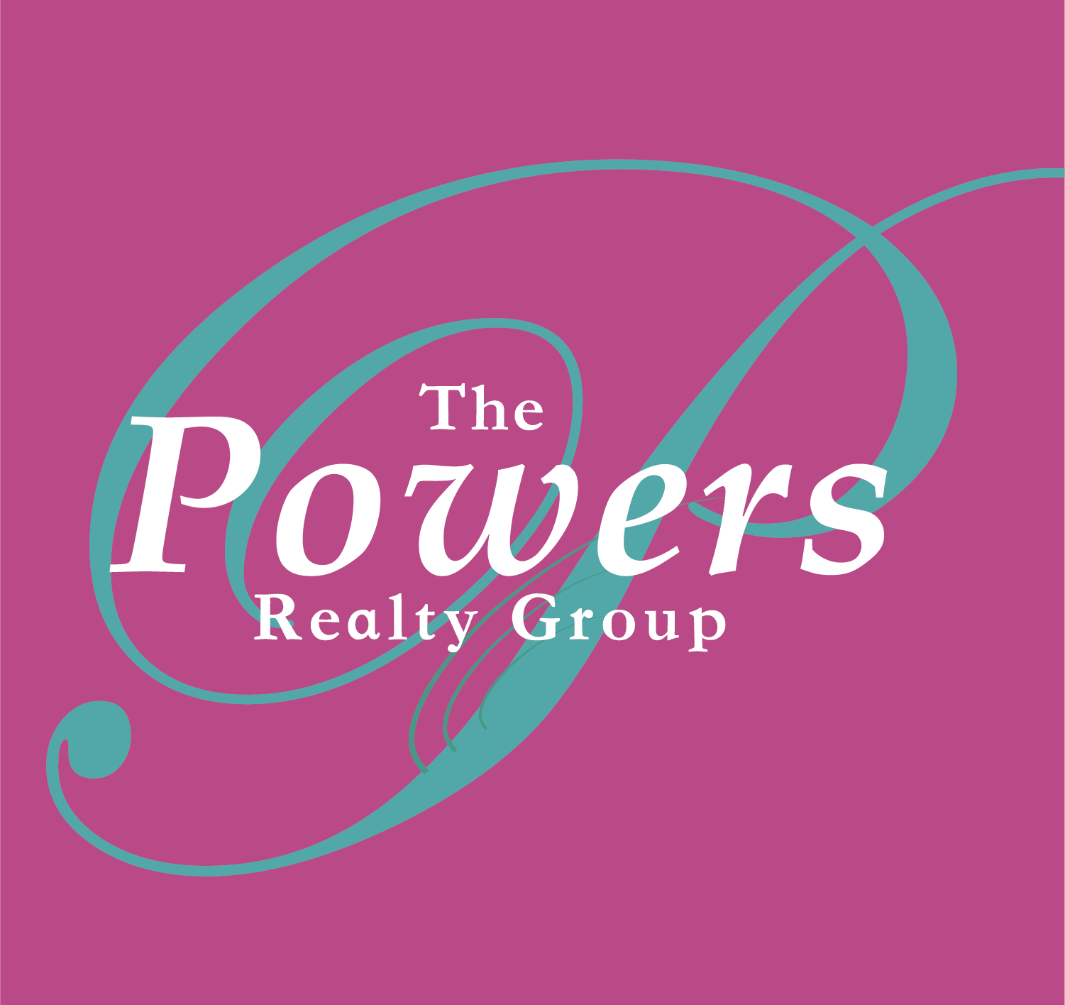 PRG Logo_Pink BG 3_Powers Realty Group Logo_Pink BG 3